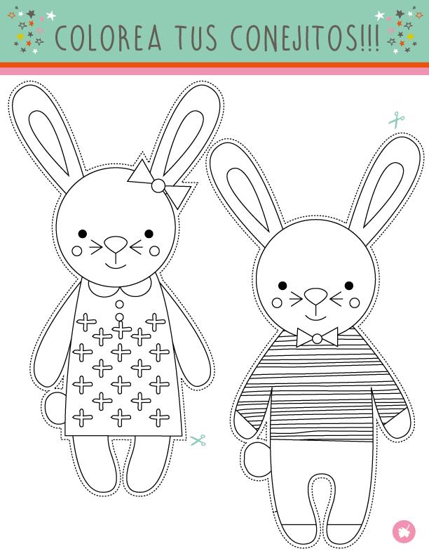 Dibujo De Conejo 068 Dibujos Y Juegos Para Pintar Y